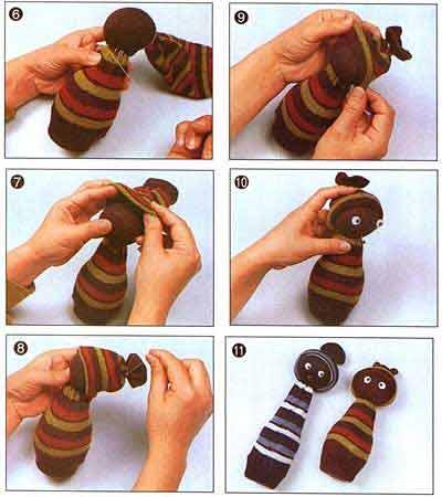 Как сделать куклу своими руками из носков